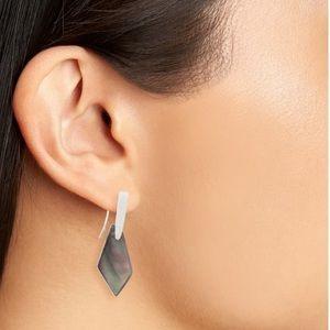Kendra Scott Gianna Earrings Black Pearl & Silver!